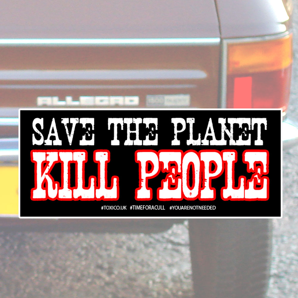Kill People Bumper Sticker - Toxico Clothing