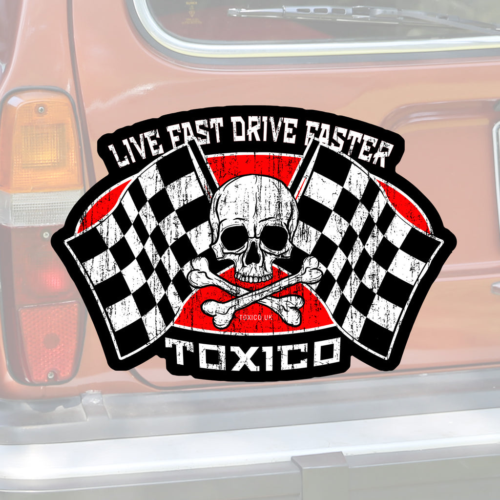 Live Fast Sticker - Toxico Clothing