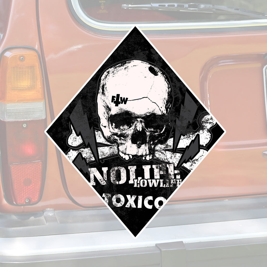 No Life Lowlife Sticker - Toxico Clothing