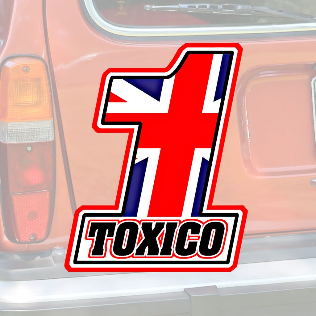 No 1 Flag Sticker - Toxico Clothing