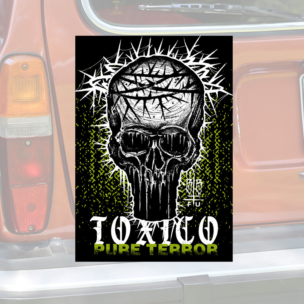 Pure Terror Sticker - Toxico Clothing