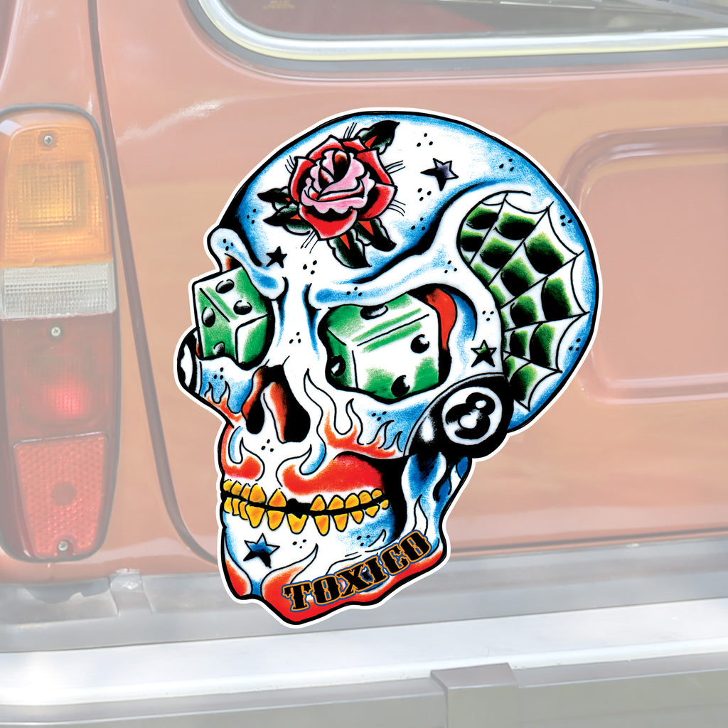 Tattoo Skull Sticker - Toxico Clothing