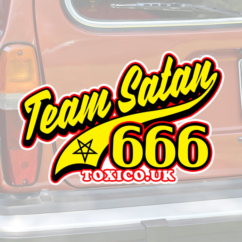Team Satan Sticker - Toxico Clothing