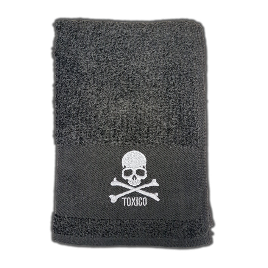 Skull Bath Towel - Toxico Clothing