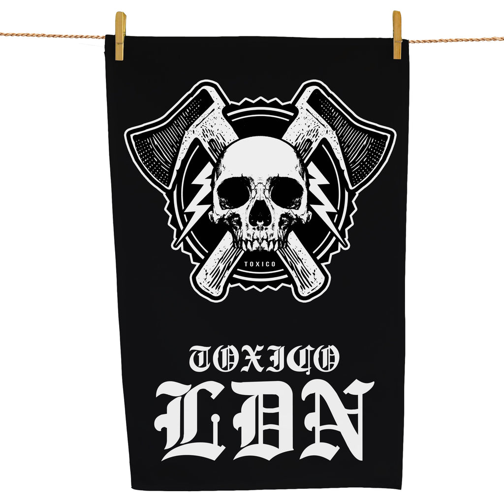 Axe Skull Tea Towel - Toxico Clothing