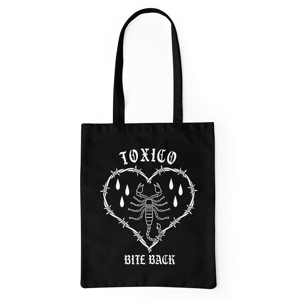 Bite Back Tote Bag - Toxico Clothing