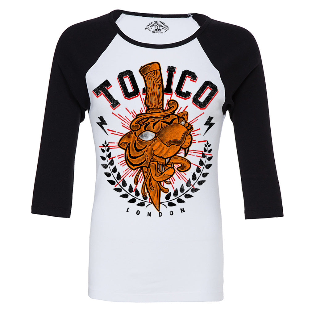Tiger London Raglan Tee - Toxico Clothing