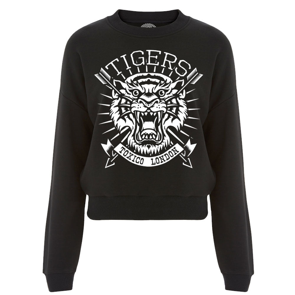 Tiger Crop Sweat
