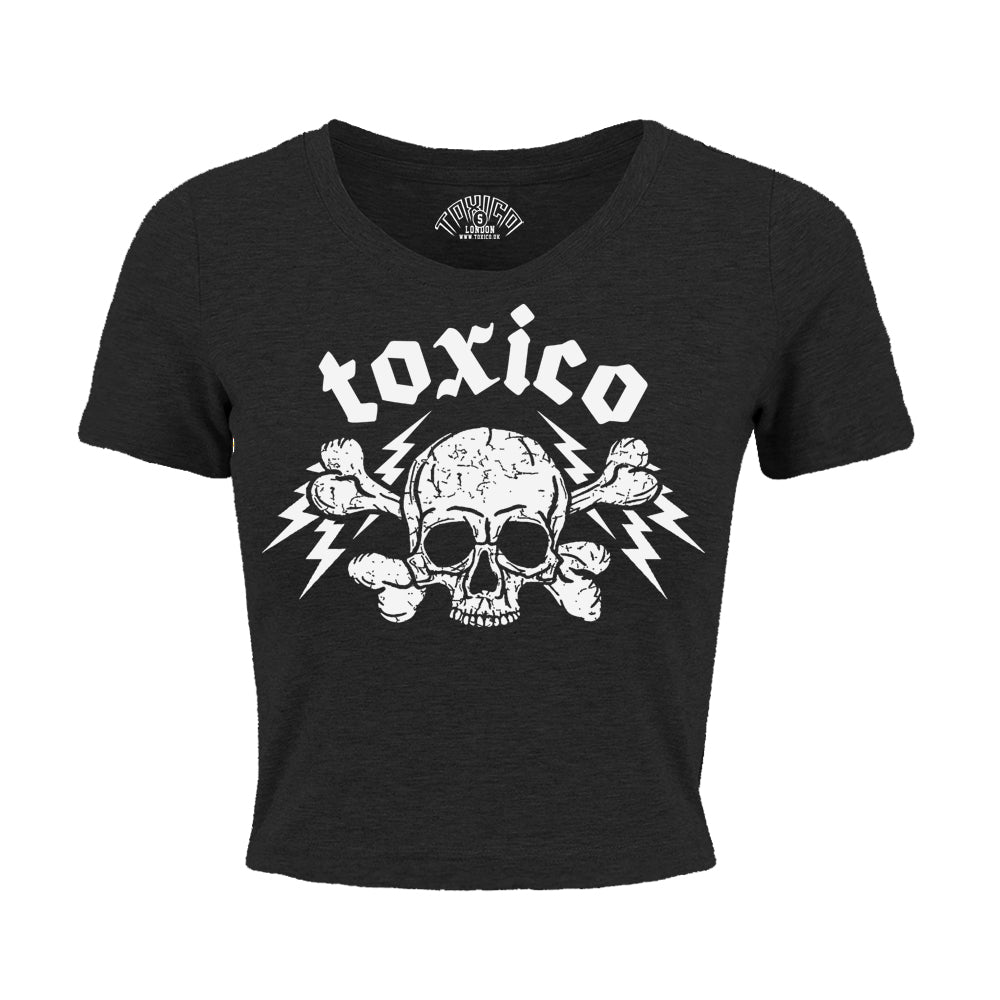 Speed Death Cropped Tee - Toxico Clothing