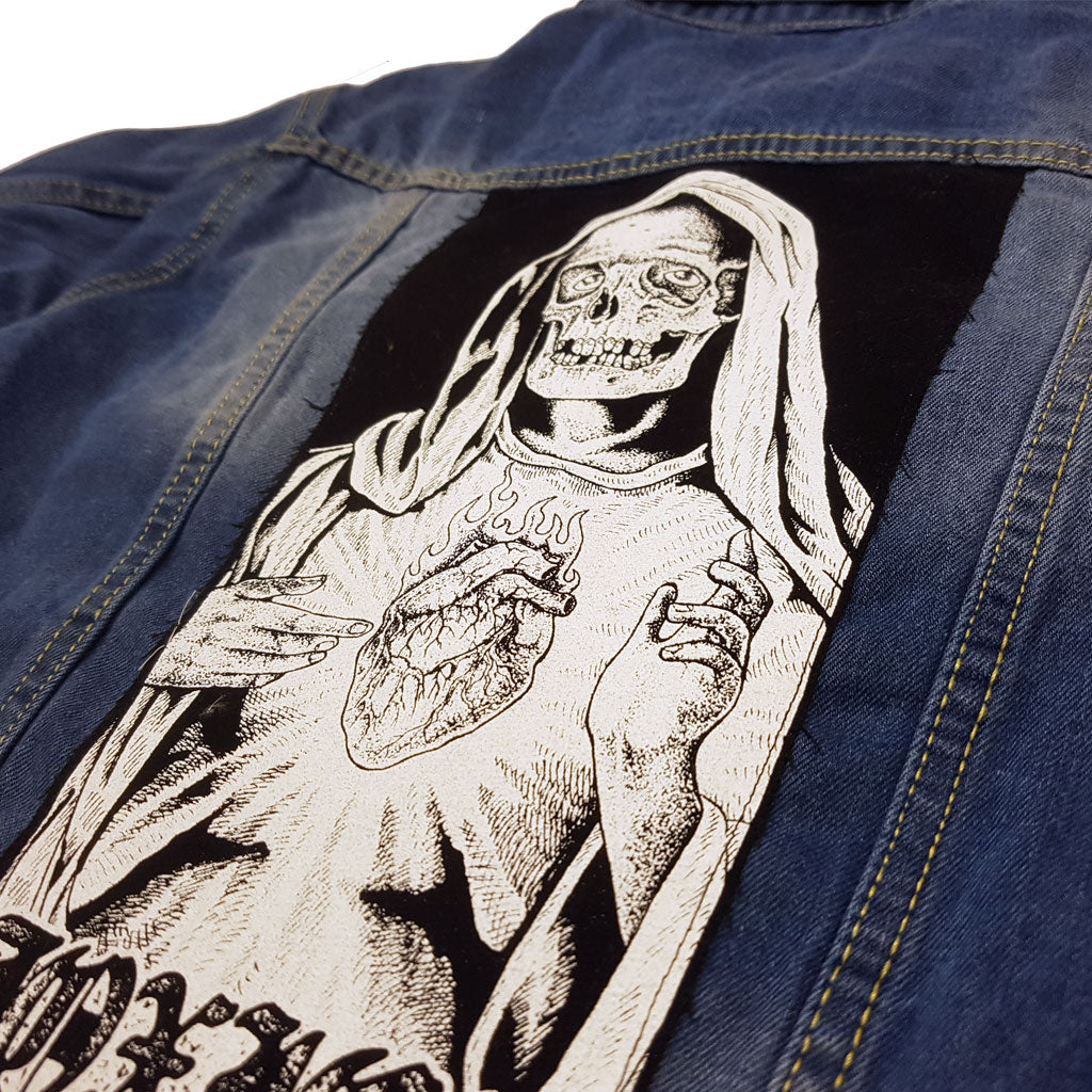 PreyForDeath Denim Jacket - Toxico Clothing