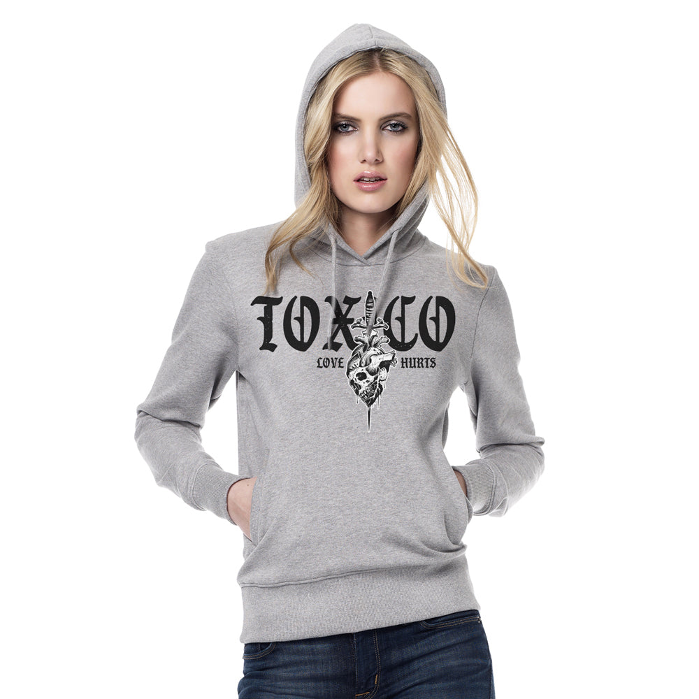 Love Hurts Pullover Hood - Toxico Clothing