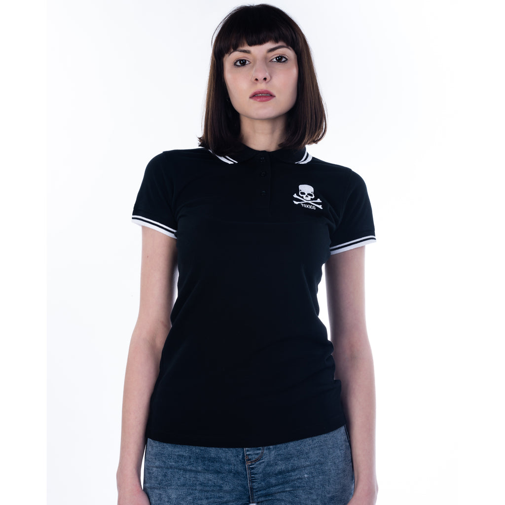 Skull & Bones Polo Shirt - Toxico Clothing