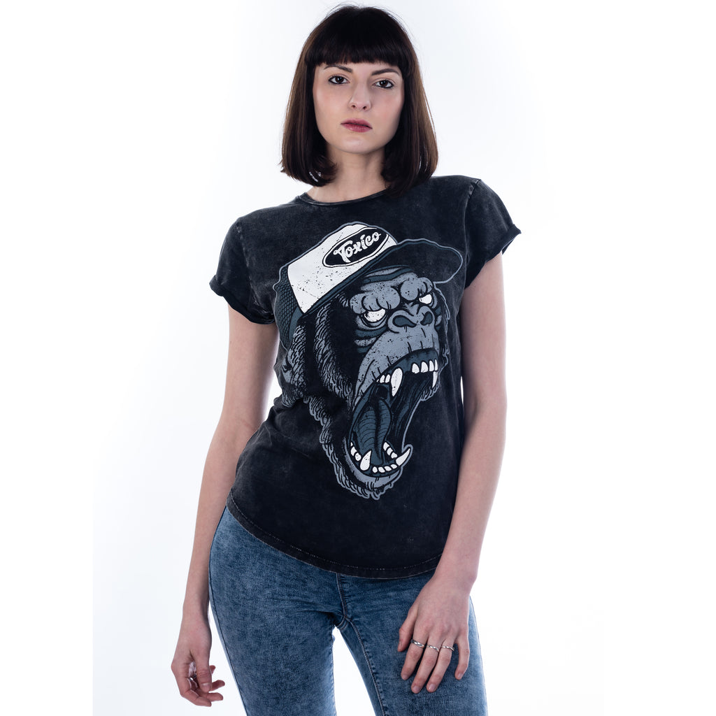 Gorilla Rolled Sleeve Tee - Toxico Clothing