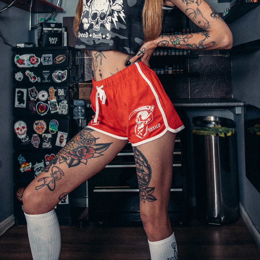 Life & Death Retro Shorts - Toxico Clothing