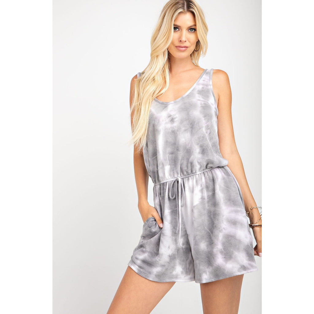 Sleeveless Tie Dye Romper - Lilac Clothing Company LLC