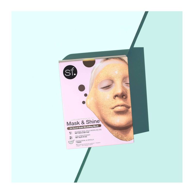 24 Karat Gold Modeling Gel Mask