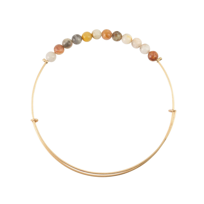 Crazy Lace Agate Stone Bangle