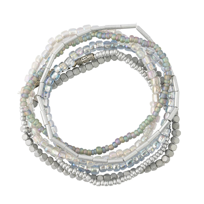 Silver Tones Seed Bead Stackable Bracelet Set
