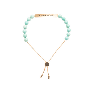 """Laugh More"" Positive Vibes Bracelet"
