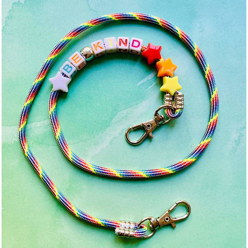 Be Kind Rainbow Mask Chain For Kids or Adults