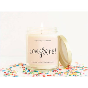 Sweet Water Soy Candle -  Congrats!