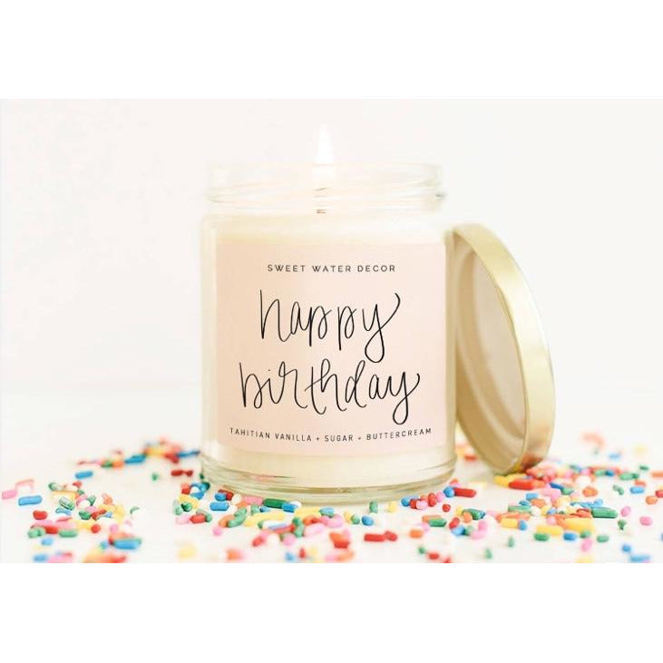 Sweet Water Soy Candle- Happy Birthday!
