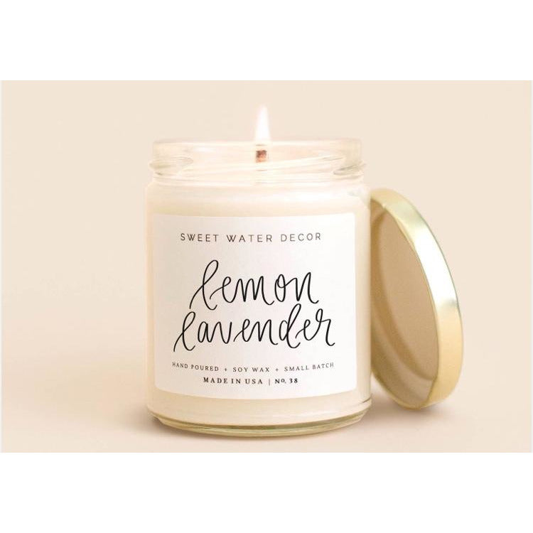 Sweet Water Soy Candle - Lemon Lavender