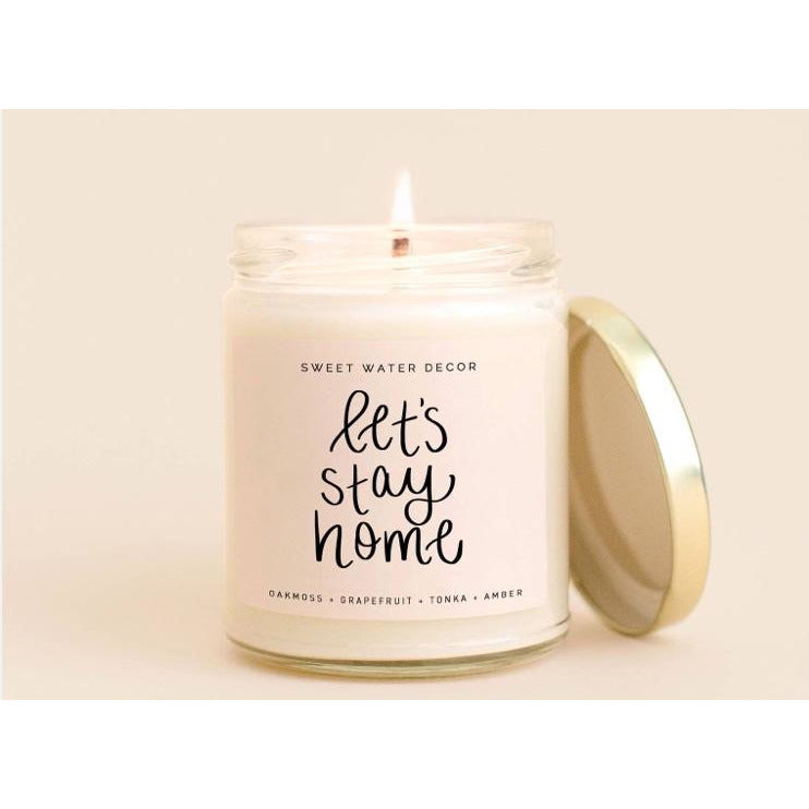 Sweet Water Soy Candle - Let's stay home