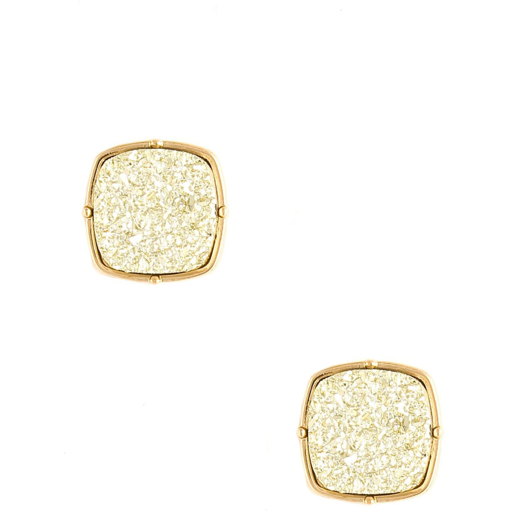 Druzy Square Earrings
