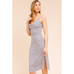 Cowl Neck Midi Dress - Lilac Clothing Company LLC