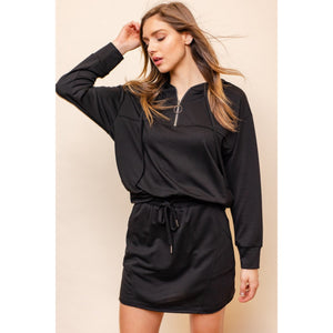Black Long Sleeve Hoodie Set - Lilac Clothing Company LLC