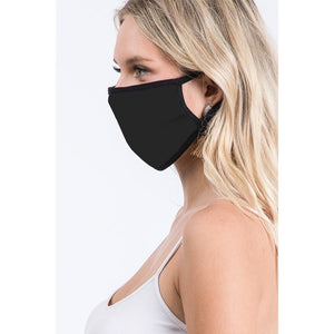 Solid Black Reversible Face Covering