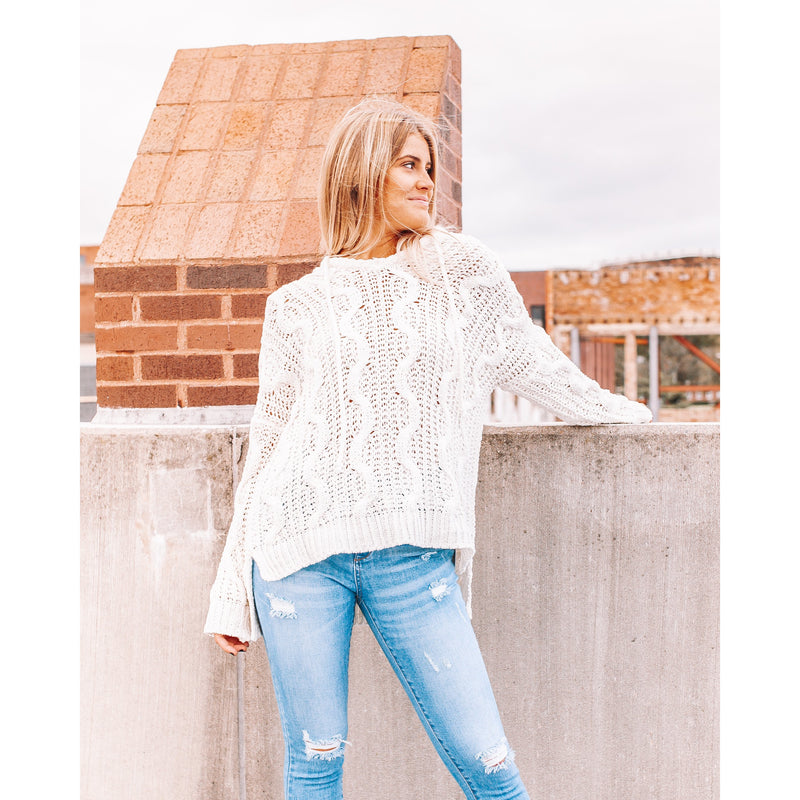 Cable Knit Pullover Sweater
