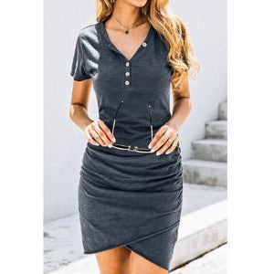 Button Down Wrap Dress