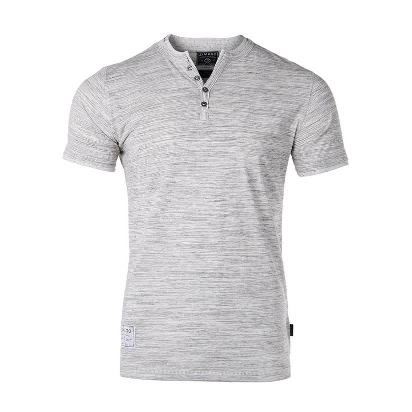 Short Sleeve Double Layer V Neck Henley - Lilac Clothing Company LLC