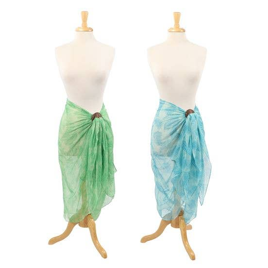 Palm Leaf Sarong with Coconut Buckle