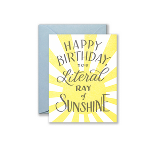 Ray of Sunshine Greeting Card