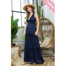 Crochet Lace Maxi Dress - Curvy