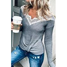 Front Knob Knitted Sweater Top