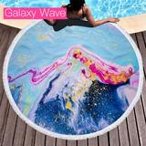 Round Geode Beach Towel