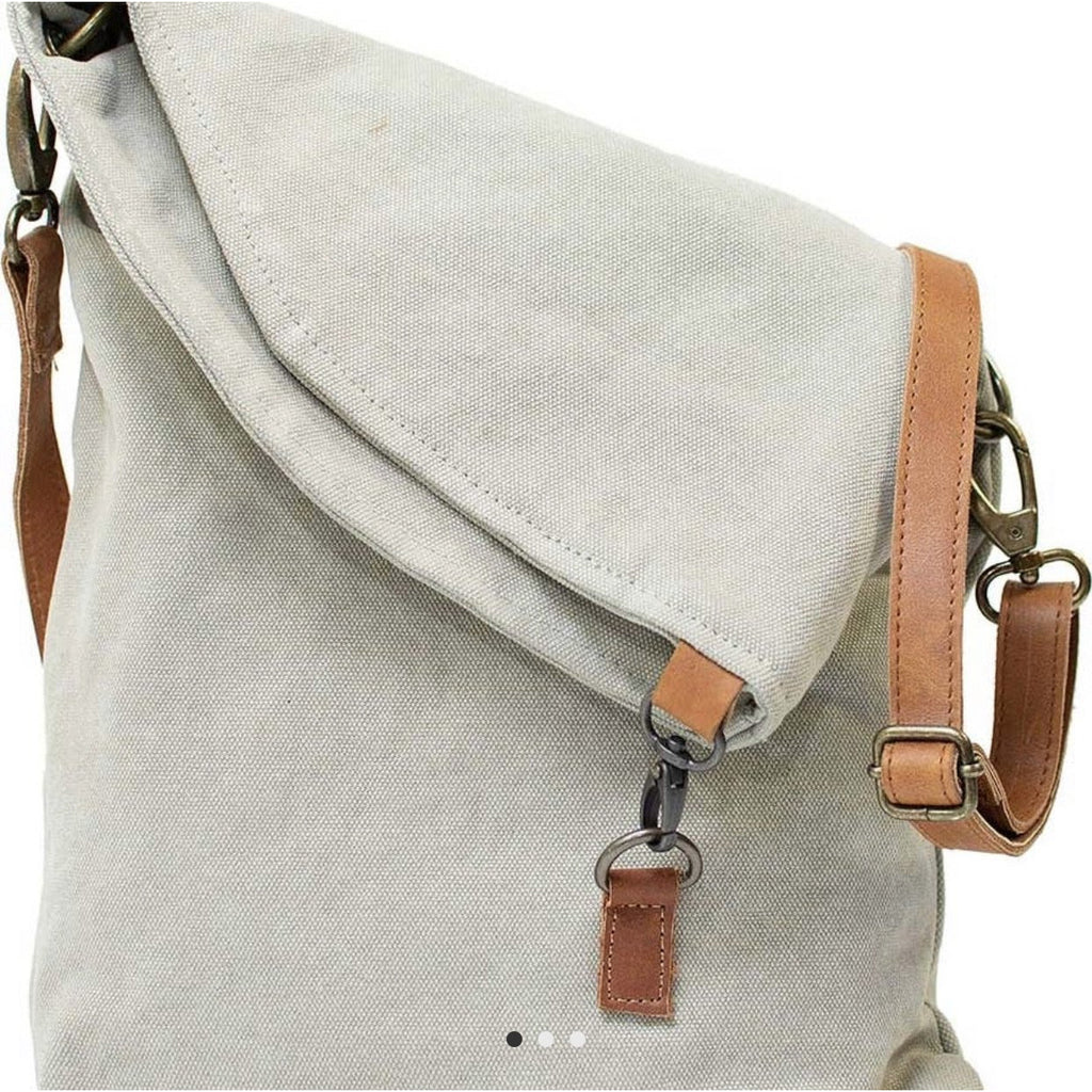 Ash Grey Canvas Crossbody - Lilac Clothing Company LLC