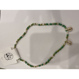 Green Puka Shell necklace