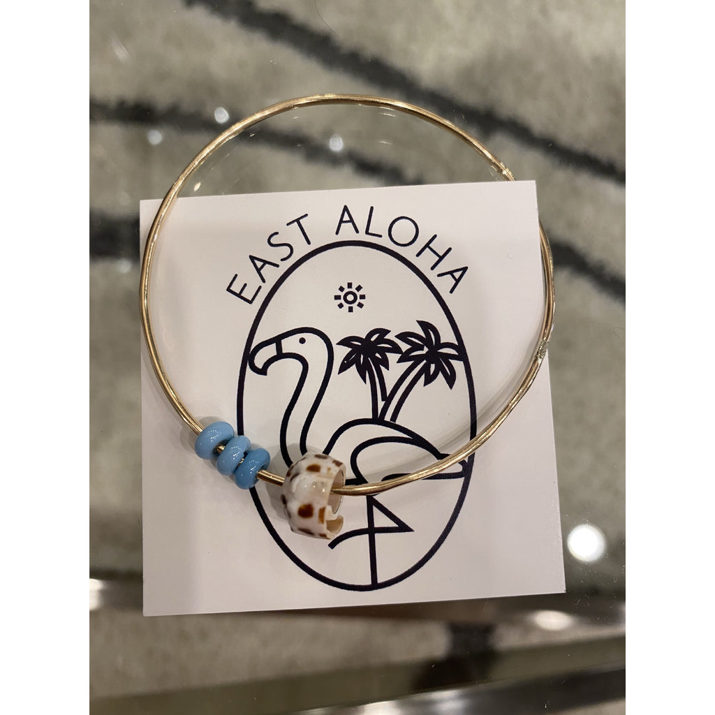 Salt Water Puka Bead Bangle