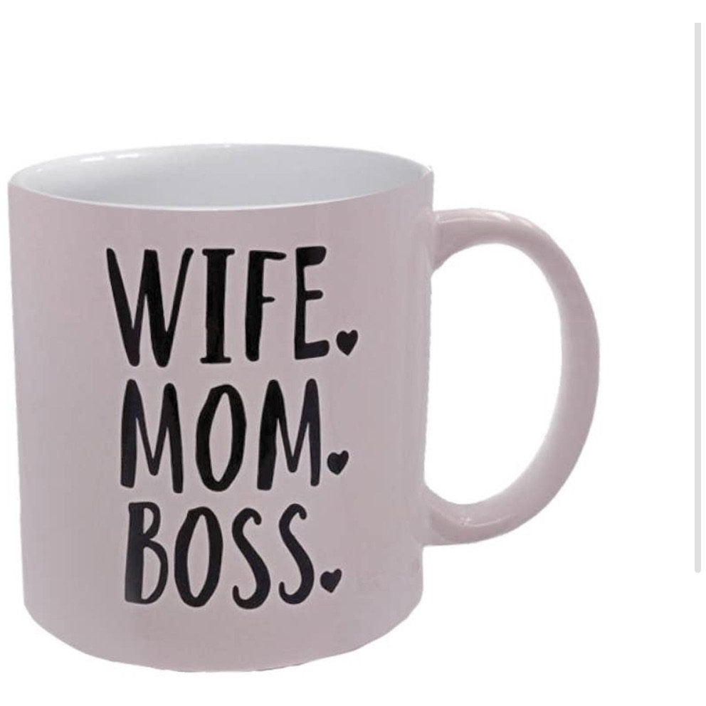 Wife. Mom. Boss Coffee Mug - Lilac Clothing Company LLC