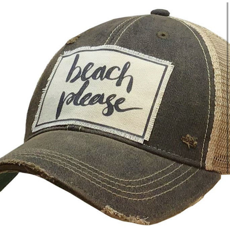 Beach Please Trucker Cap - Lilac Clothing Company LLC