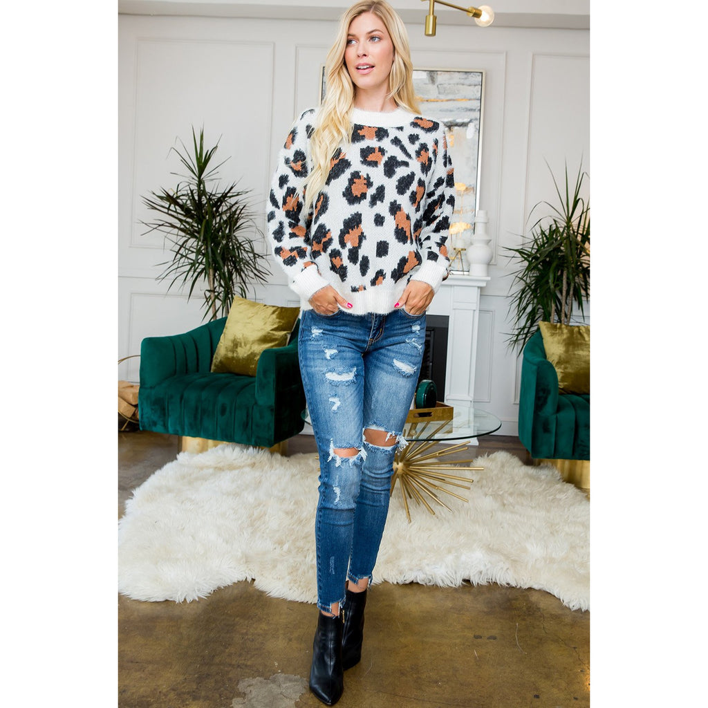 Cozy Leopard Sweater