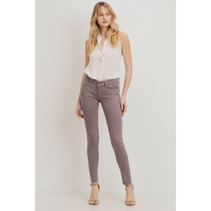 Rubberband - Taupe skinny stretch pants