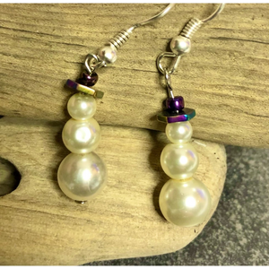 Kauriee Designs Snowman Earrings