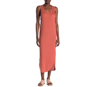 Rounded Hem Midi Tank Dress - Terra Cotta