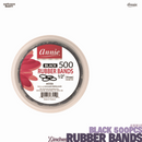 ANNIE Black Rubber Bands ½inches (14mm) 500pcs